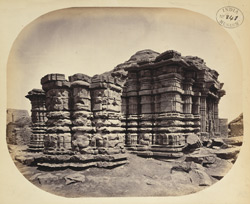 General view from the south-west of the Chintamani Mahadeva Temple, Kothali, Buldana District, Berar. [sic Mahadeva Temple, Kothali]